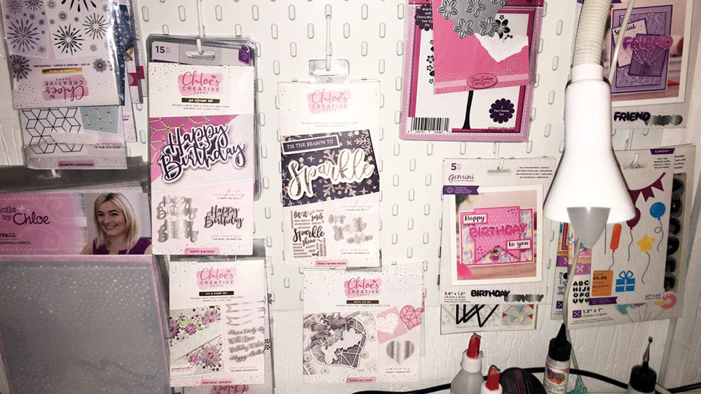 A photo of a craft room