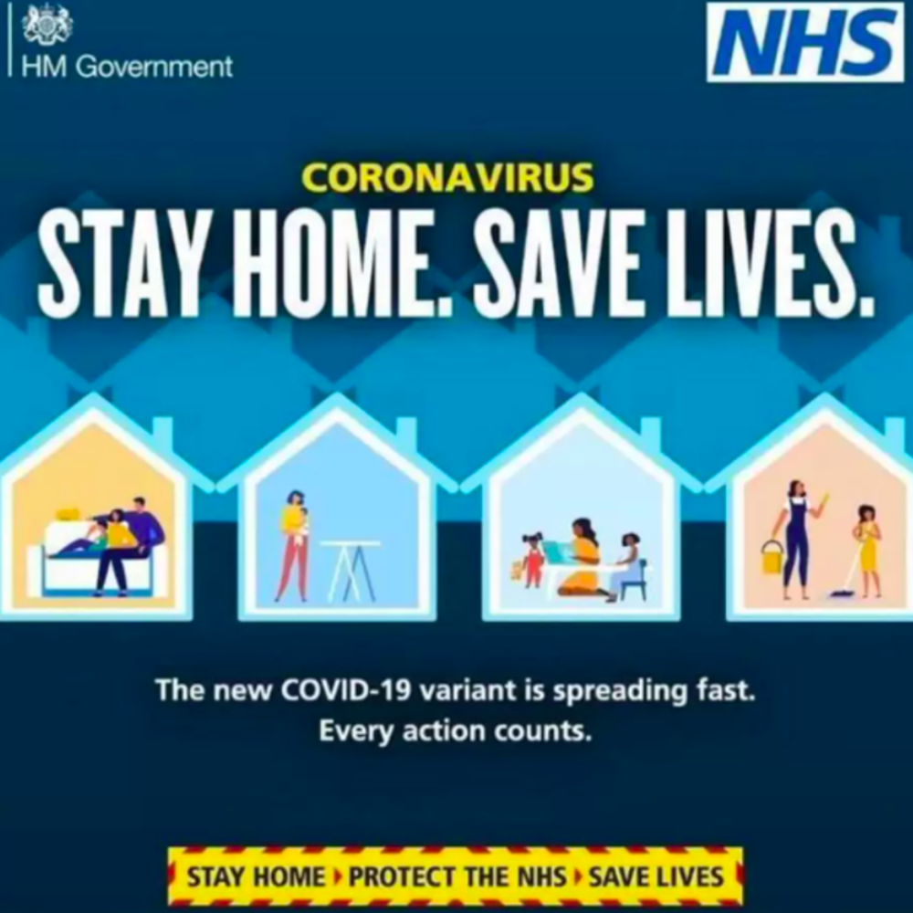 A recent Covid-19 Government campaign, portraying women 'staying at home'